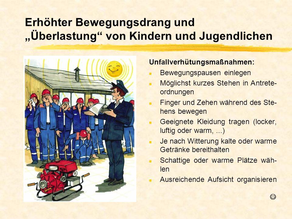 """Erhöhter Bewegungsdrang und """"Überlastung von Kindern und Jugendlichen"""