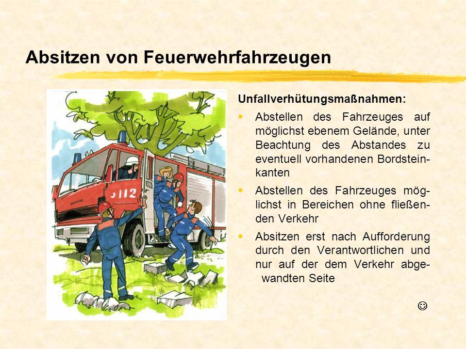 Absitzen von Feuerwehrfahrzeugen