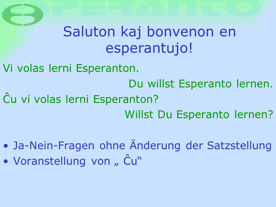 Saluton kaj bonvenon en esperantujo!
