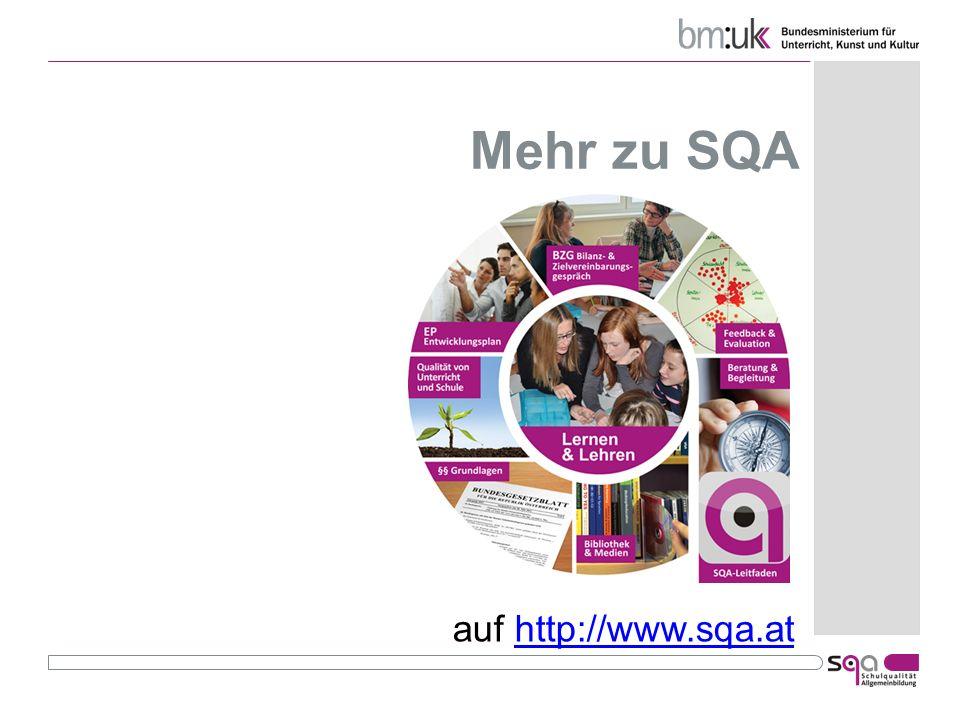 Mehr zu SQA auf http://www.sqa.at