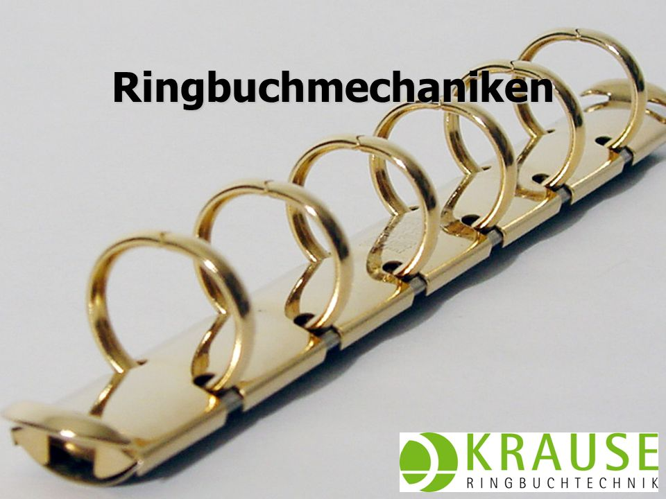Ringbuchmechaniken Juni 2009 KRAUSE AG