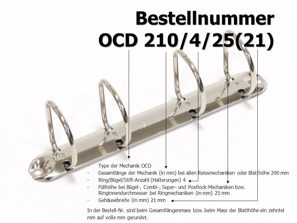 Bestellnummer OCD 210/4/25(21)