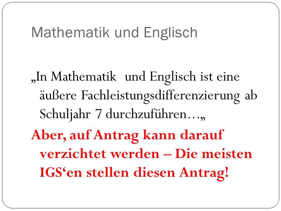 Mathematik und Englisch