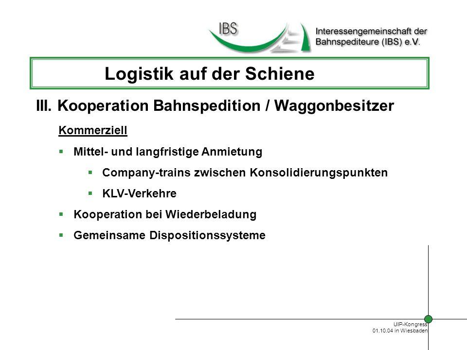 Logistik auf der Schiene