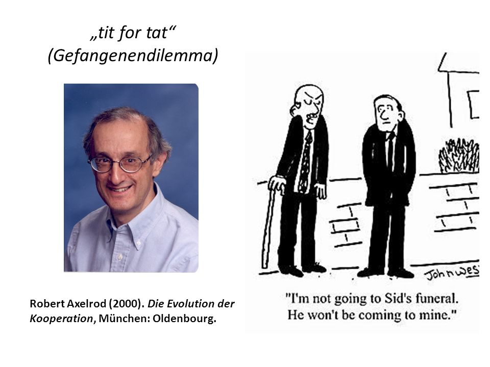 """tit for tat (Gefangenendilemma)"