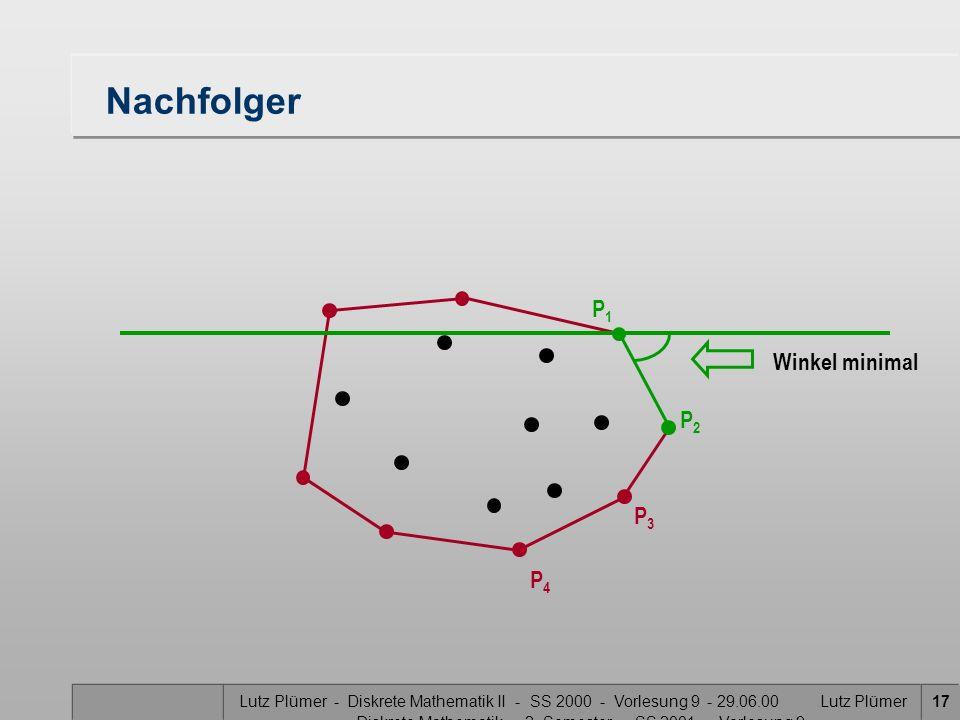 Nachfolger P1 Winkel minimal P2 P3 P4