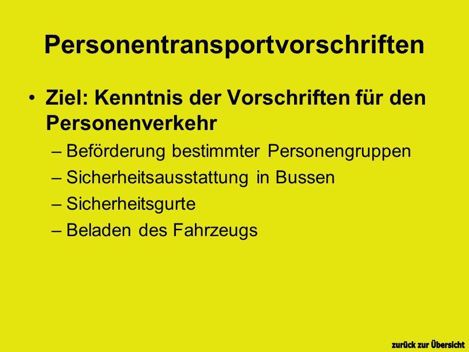 Personentransportvorschriften
