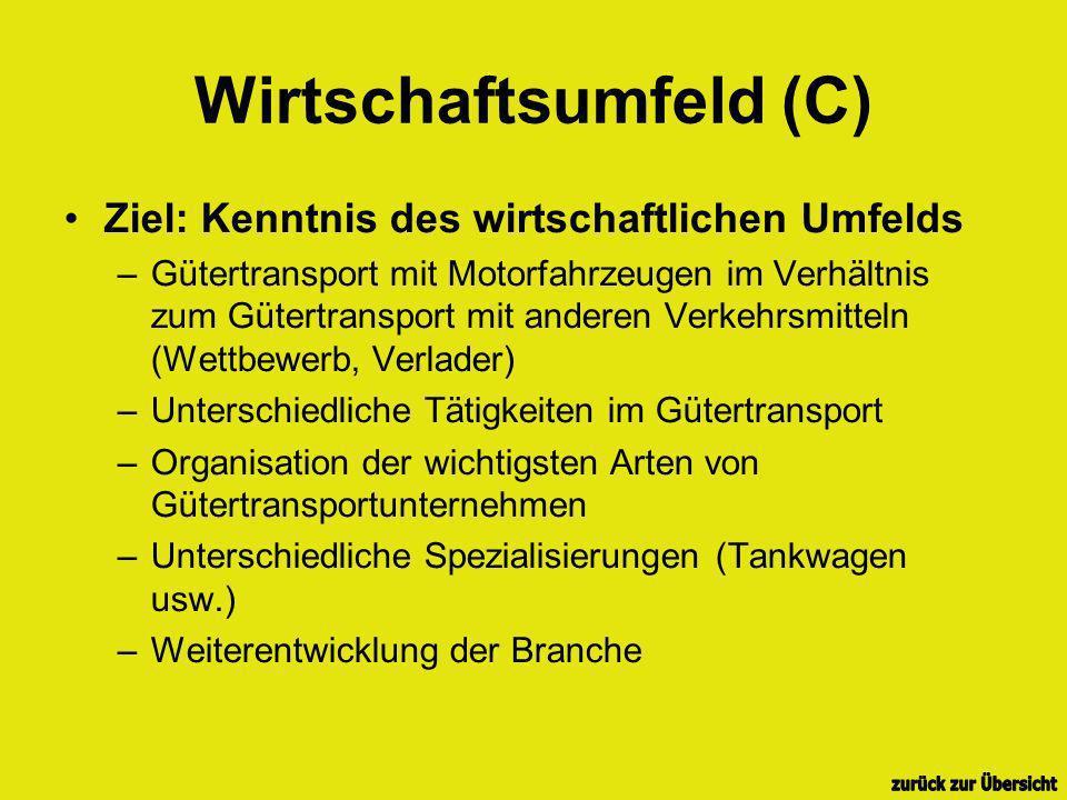 Wirtschaftsumfeld (C)