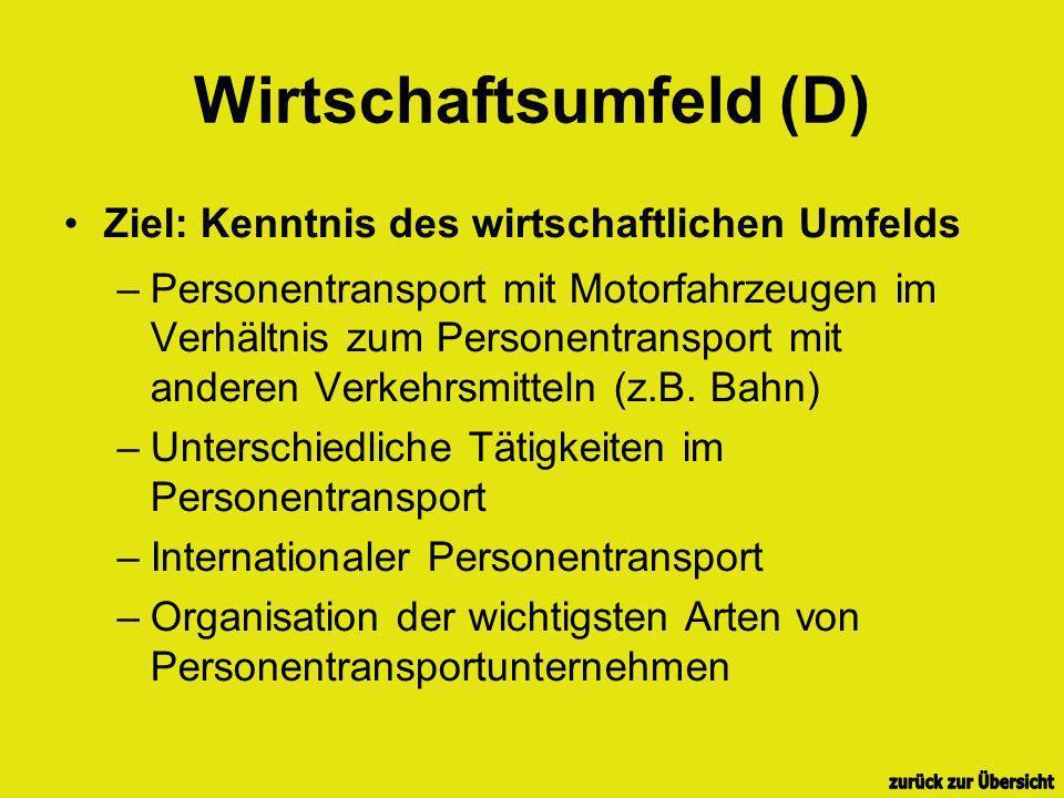 Wirtschaftsumfeld (D)