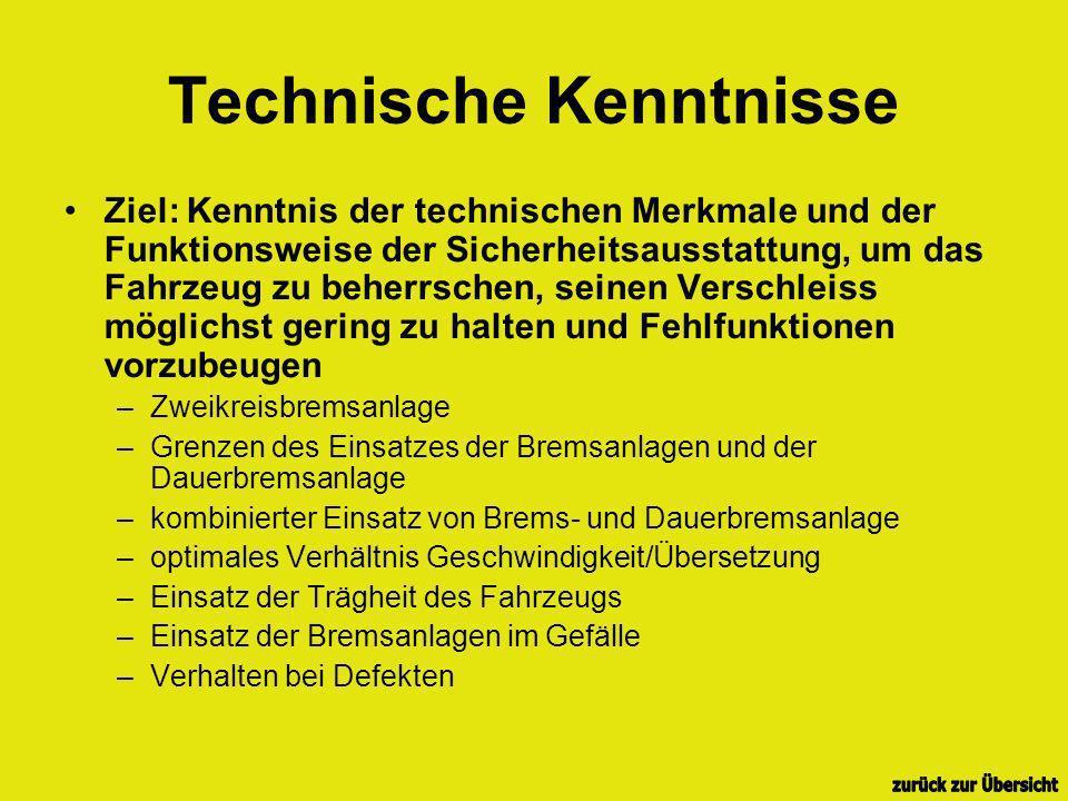 Technische Kenntnisse