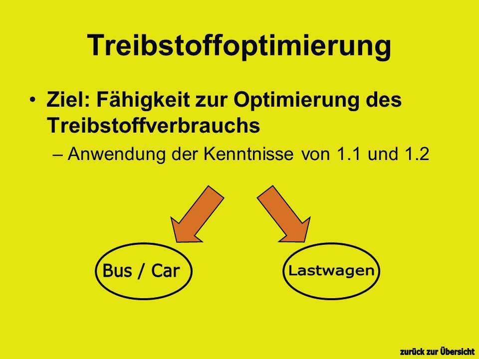 Treibstoffoptimierung