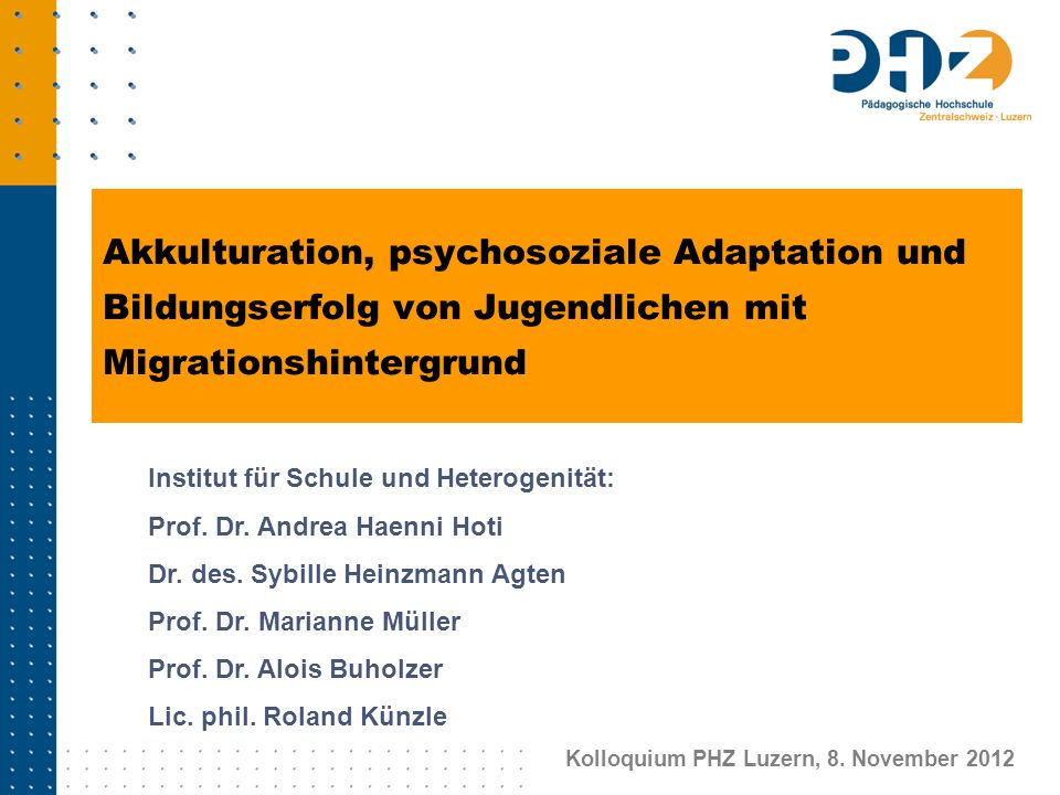 Kolloquium PHZ Luzern, 8. November 2012