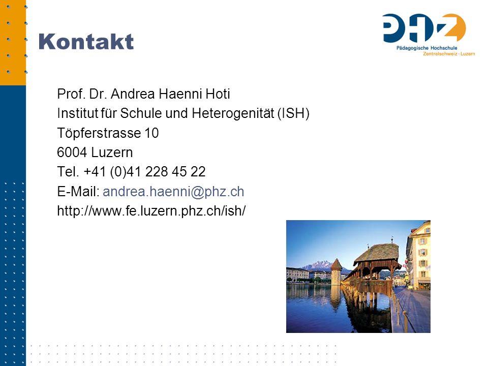 Kontakt Prof. Dr. Andrea Haenni Hoti