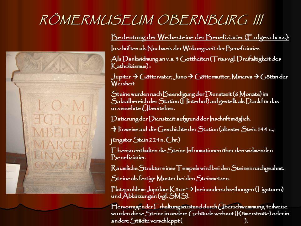 RÖMERMUSEUM OBERNBURG III