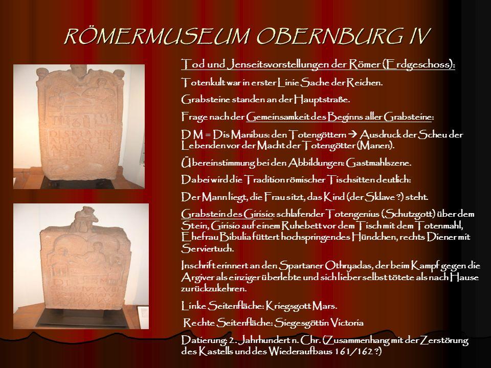 RÖMERMUSEUM OBERNBURG IV