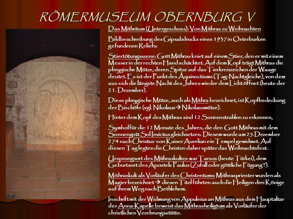 RÖMERMUSEUM OBERNBURG V