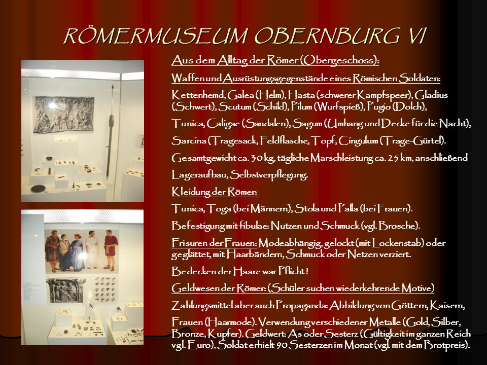 RÖMERMUSEUM OBERNBURG VI
