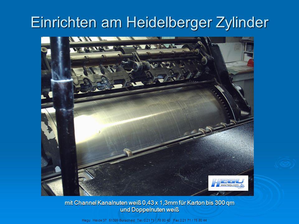 Einrichten am Heidelberger Zylinder