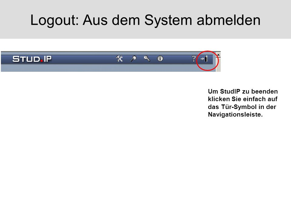 Logout: Aus dem System abmelden
