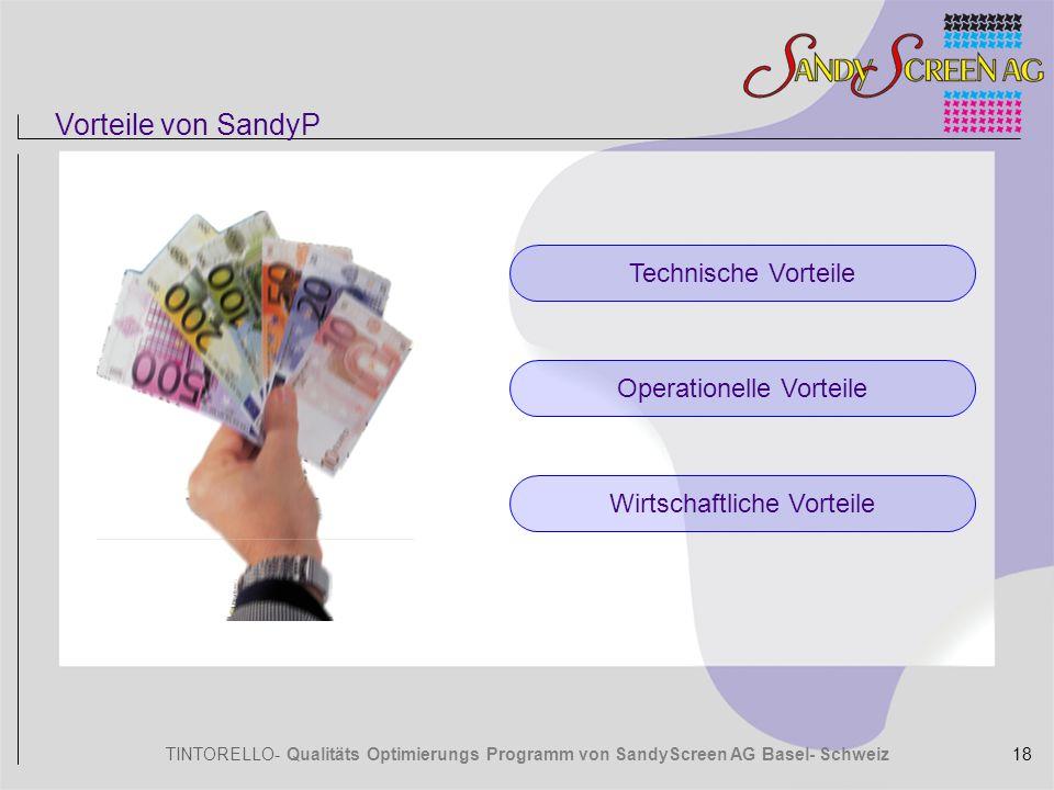 Vorteile von SandyP Technische Vorteile Operationelle Vorteile