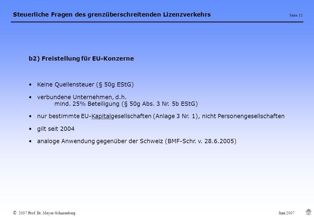 b2) Freistellung für EU-Konzerne
