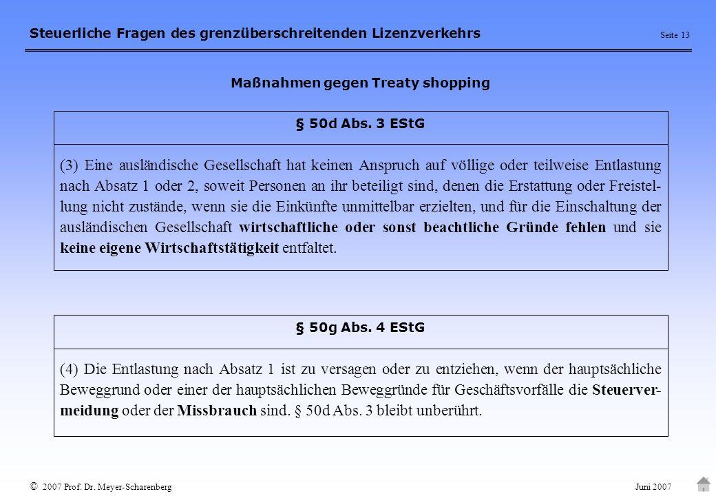 Maßnahmen gegen Treaty shopping