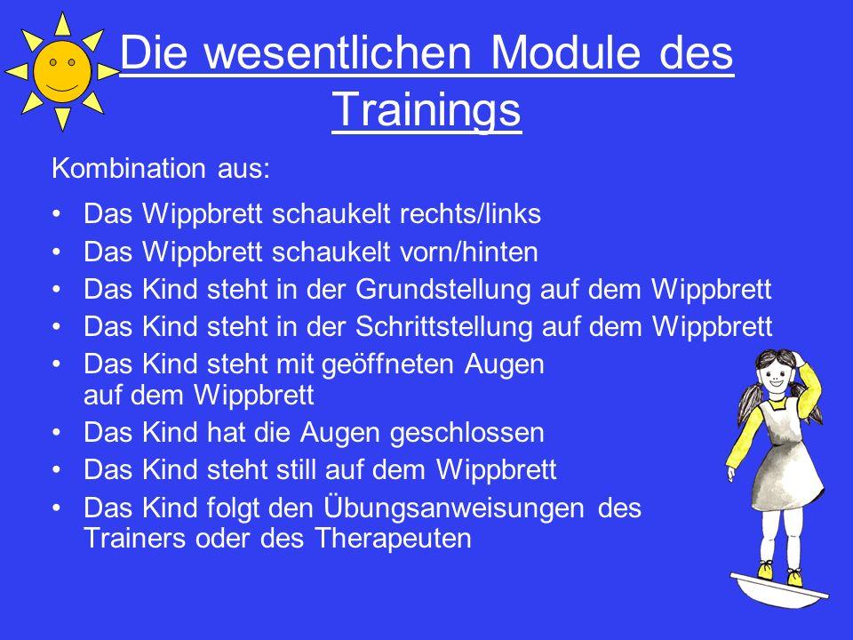Die wesentlichen Module des Trainings
