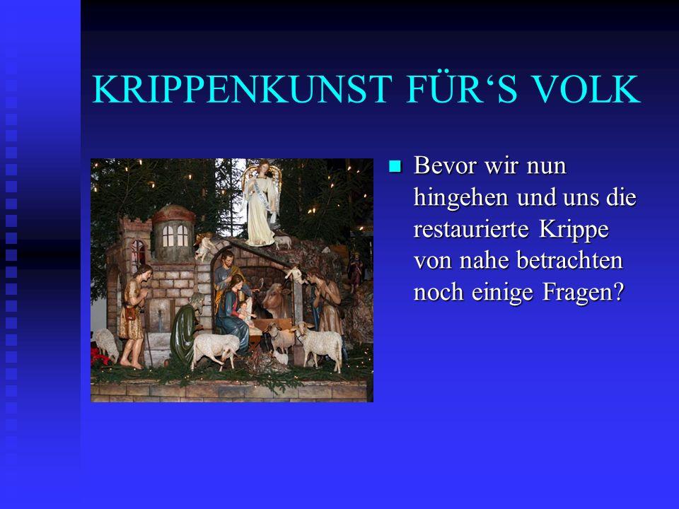 KRIPPENKUNST FÜR'S VOLK