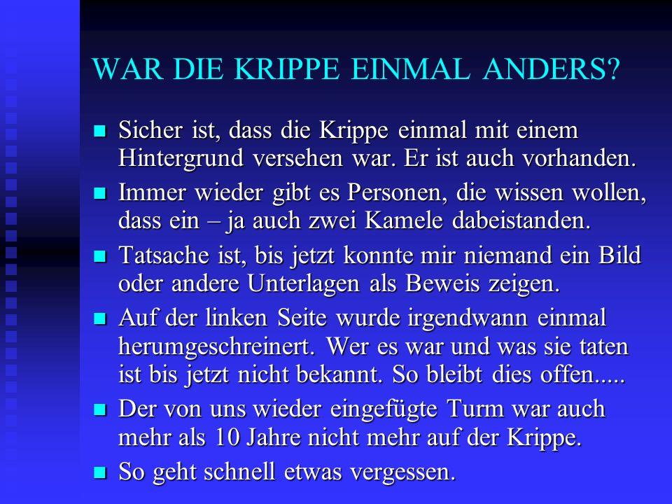 WAR DIE KRIPPE EINMAL ANDERS