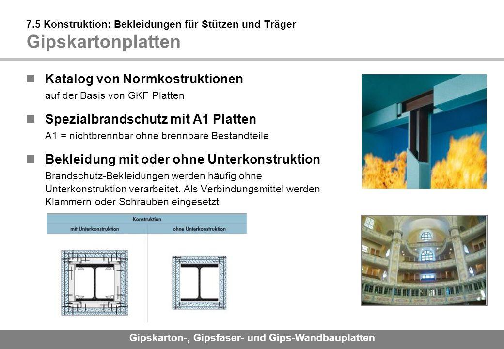 Katalog von Normkostruktionen auf der Basis von GKF Platten