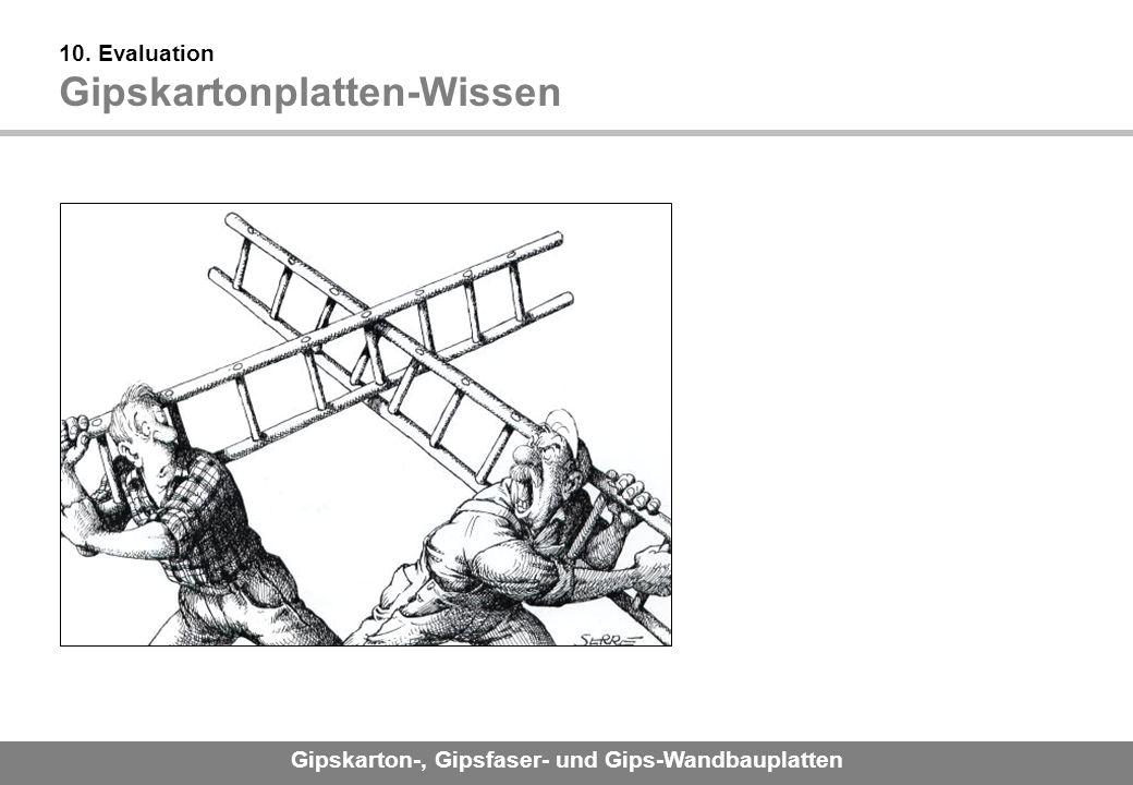 10. Evaluation Gipskartonplatten-Wissen