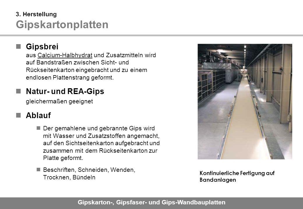 3. Herstellung Gipskartonplatten