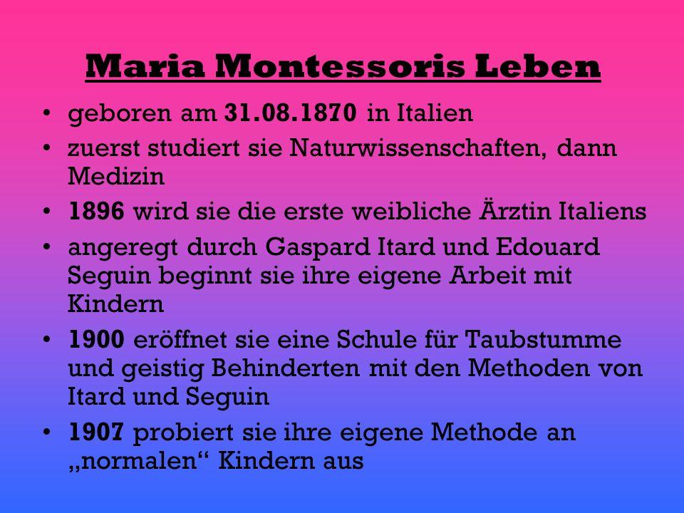 Maria Montessoris Leben