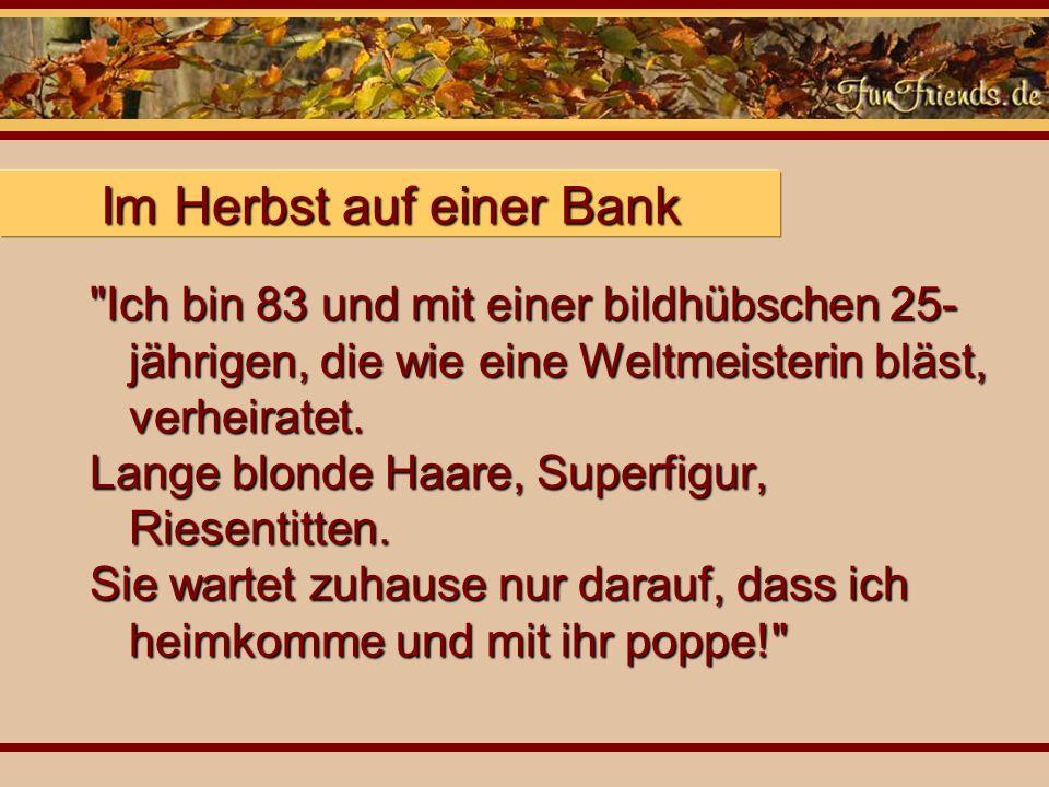 Im Herbst auf einer Bank