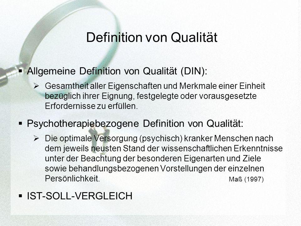 Definition von Qualität