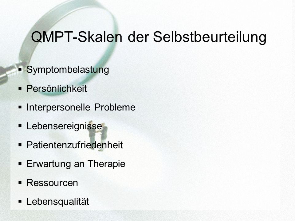 QMPT-Skalen der Selbstbeurteilung