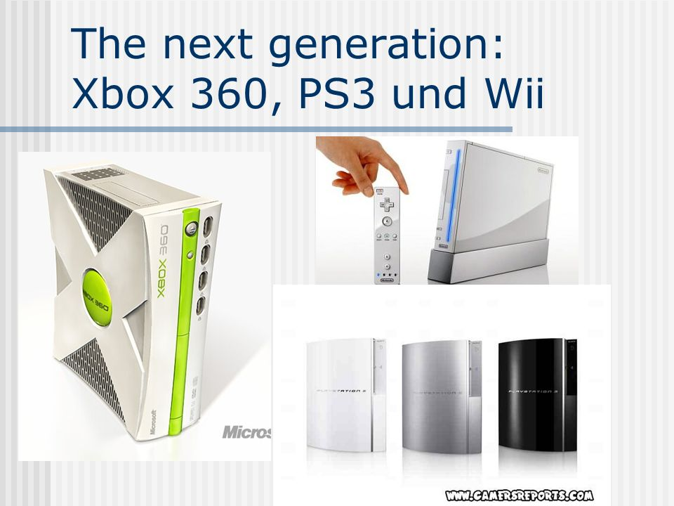 The next generation: Xbox 360, PS3 und Wii