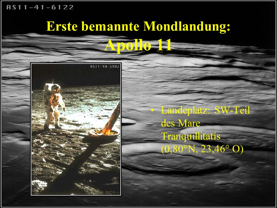 Erste bemannte Mondlandung: Apollo 11