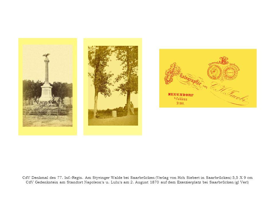 CdV Denkmal des 77. Inf. -Regts