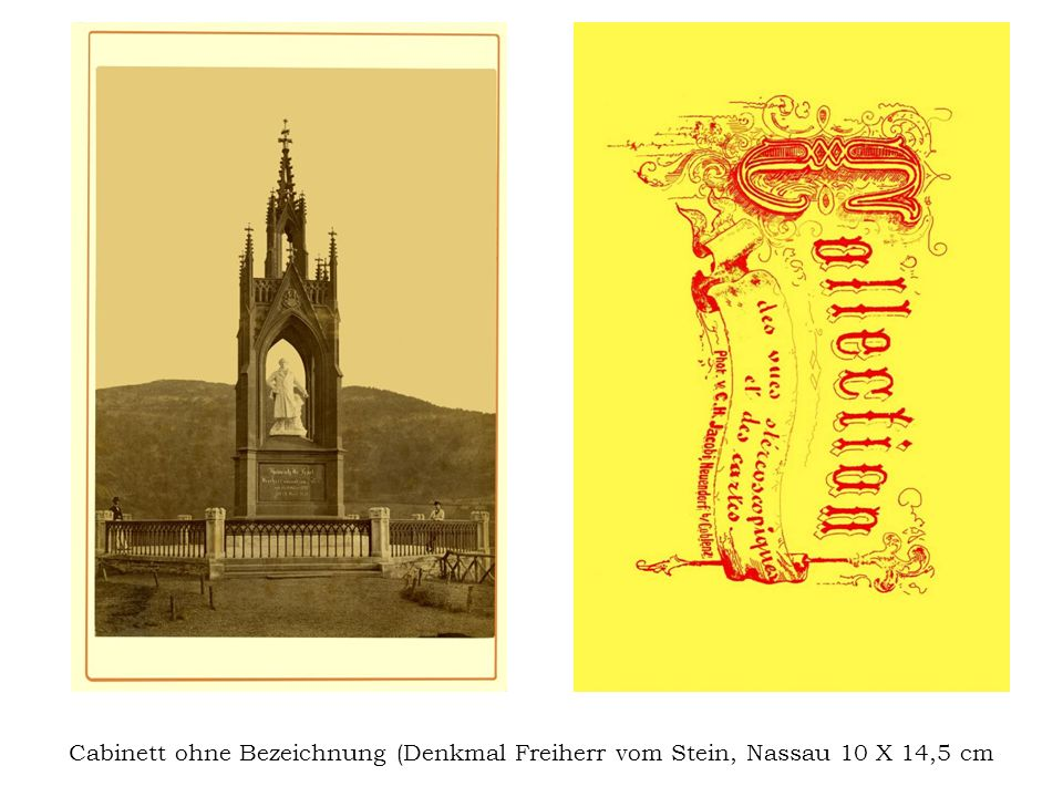 Cabinett ohne Bezeichnung (Denkmal Freiherr vom Stein, Nassau 10 X 14,5 cm