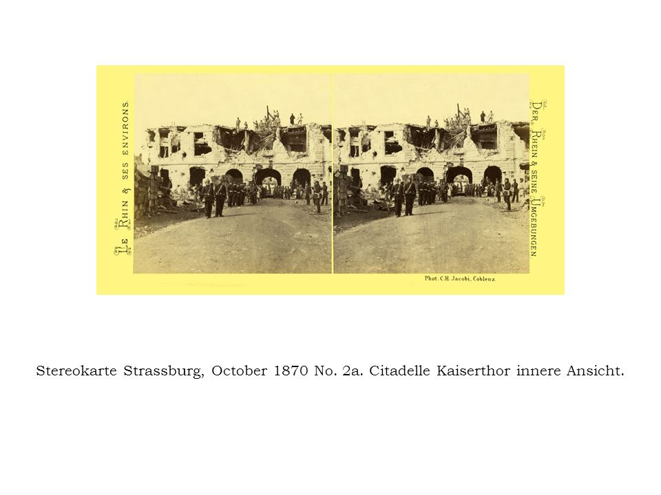 Stereokarte Strassburg, October 1870 No. 2a