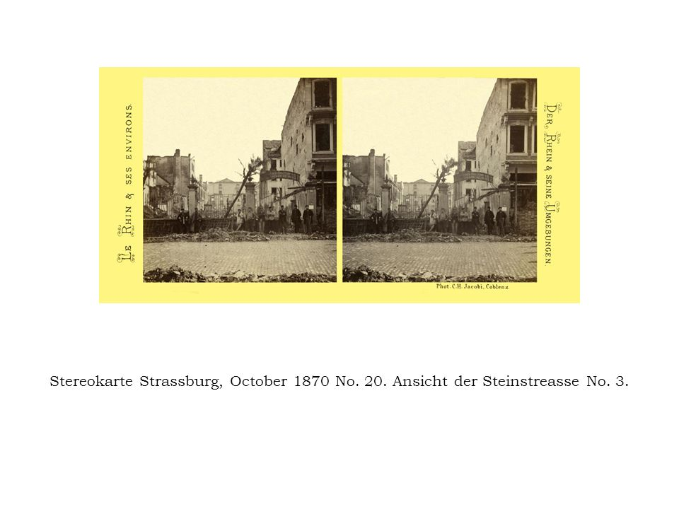 Stereokarte Strassburg, October 1870 No. 20
