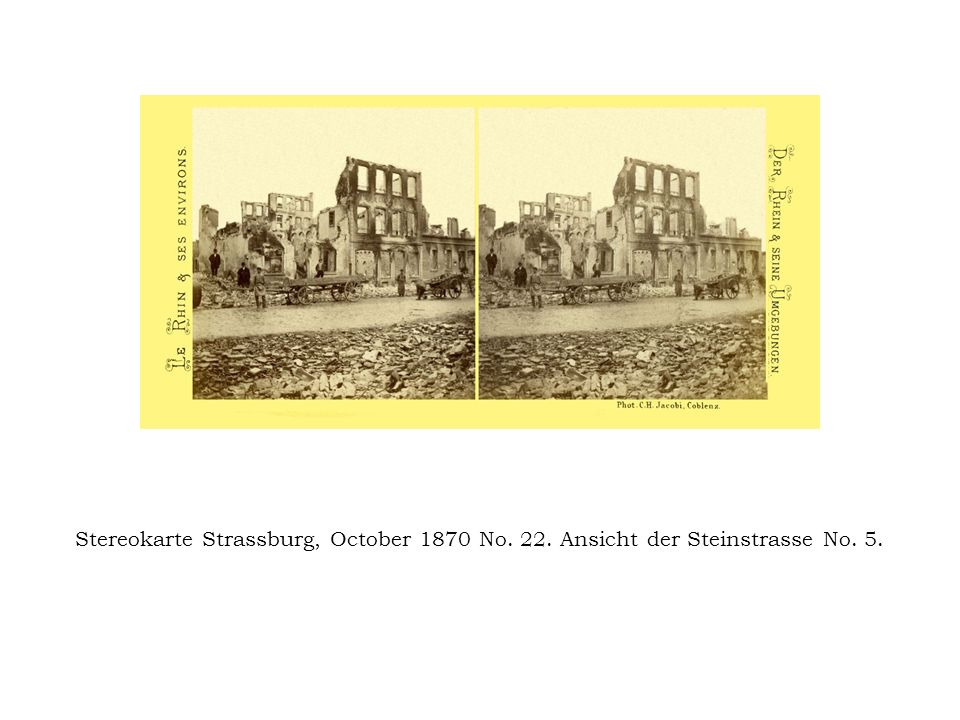 Stereokarte Strassburg, October 1870 No. 22