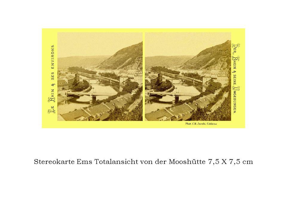 Stereokarte Ems Totalansicht von der Mooshütte 7,5 X 7,5 cm