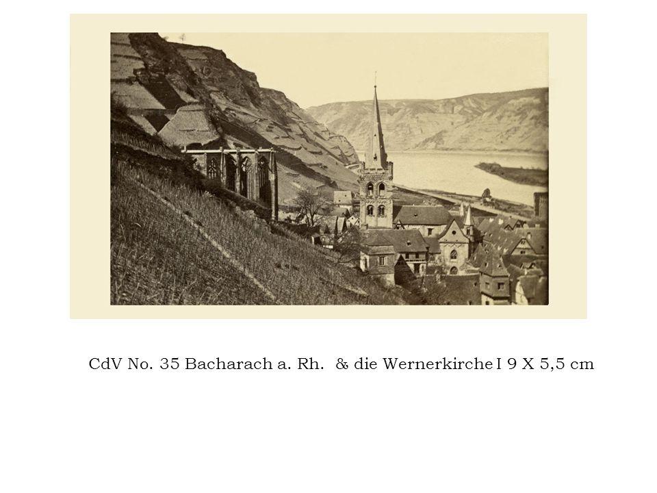 CdV No. 35 Bacharach a. Rh. & die Wernerkirche I 9 X 5,5 cm