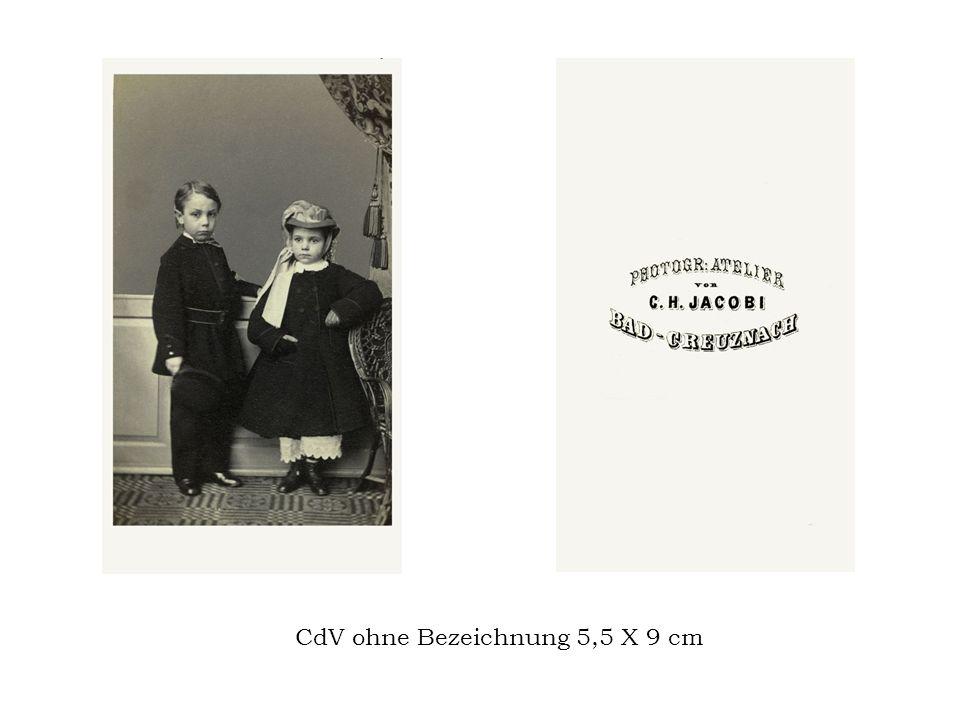 CdV ohne Bezeichnung 5,5 X 9 cm