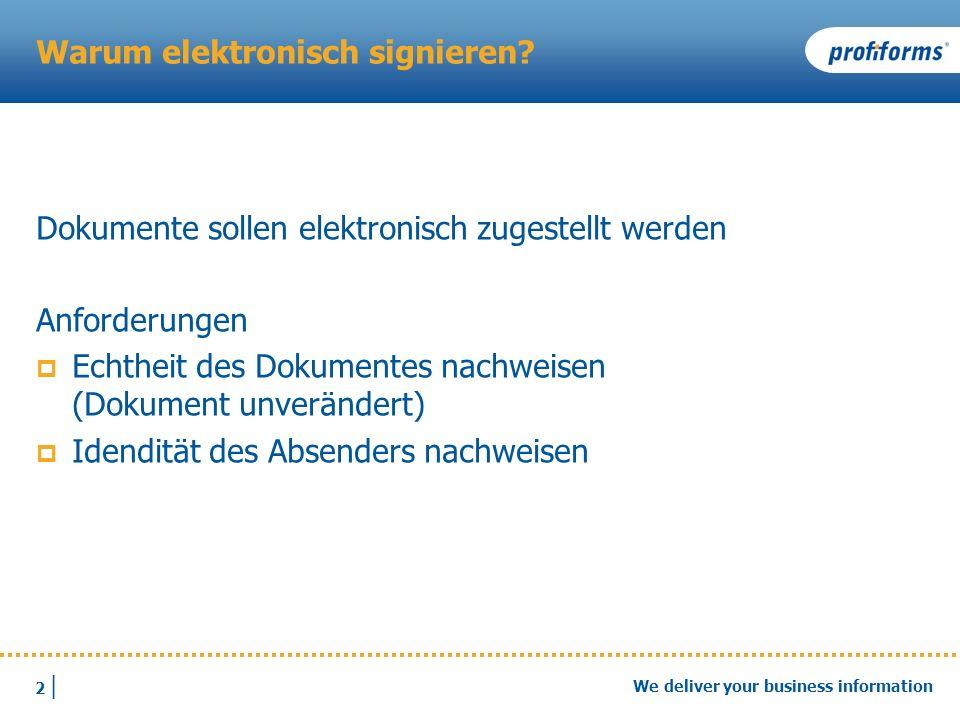 Warum elektronisch signieren