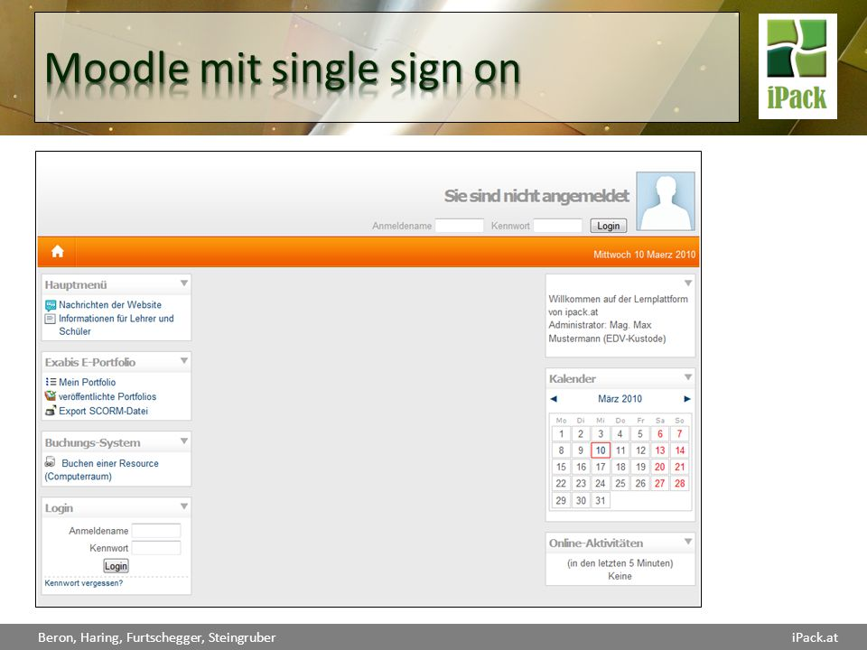Moodle mit single sign on