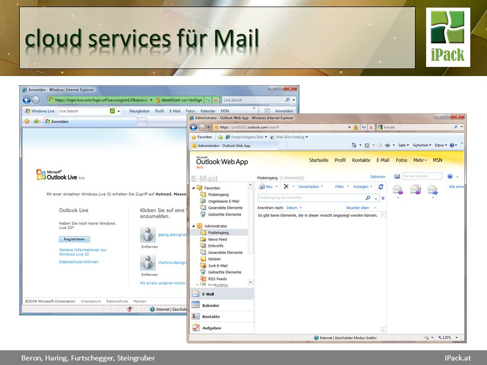 cloud services für Mail