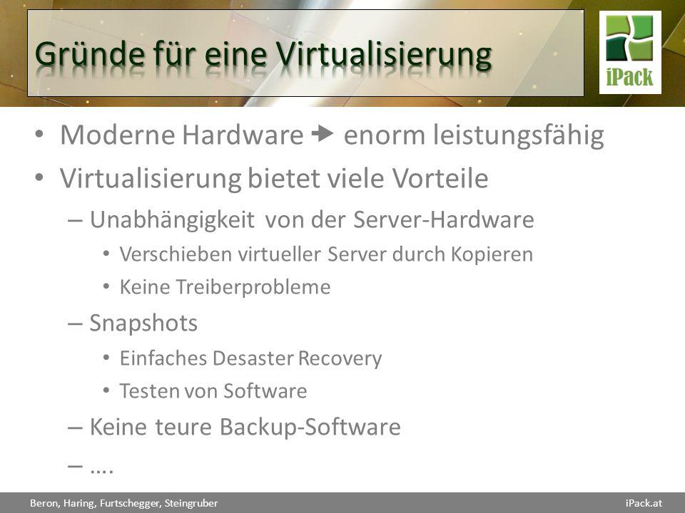 Gründe für eine Virtualisierung